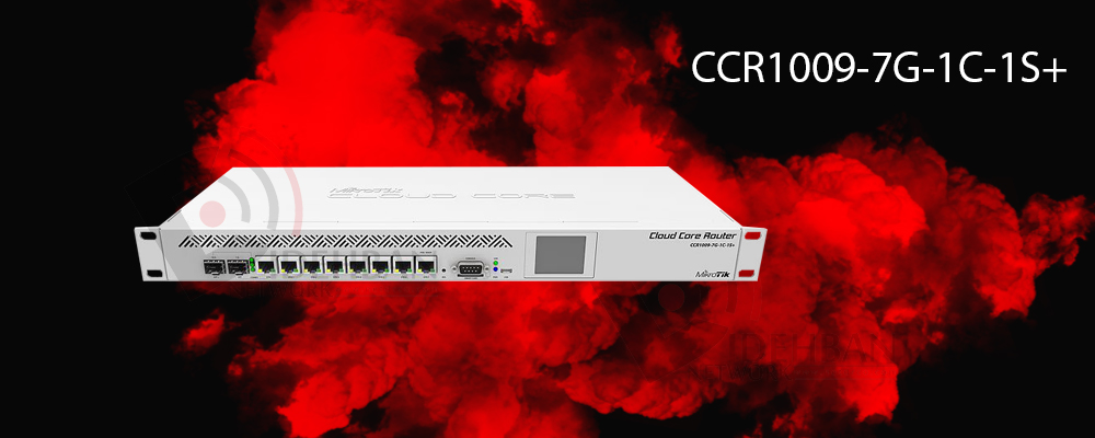 روتر CCR1009-7G-1C-1S+ _ شبکه دیده بان