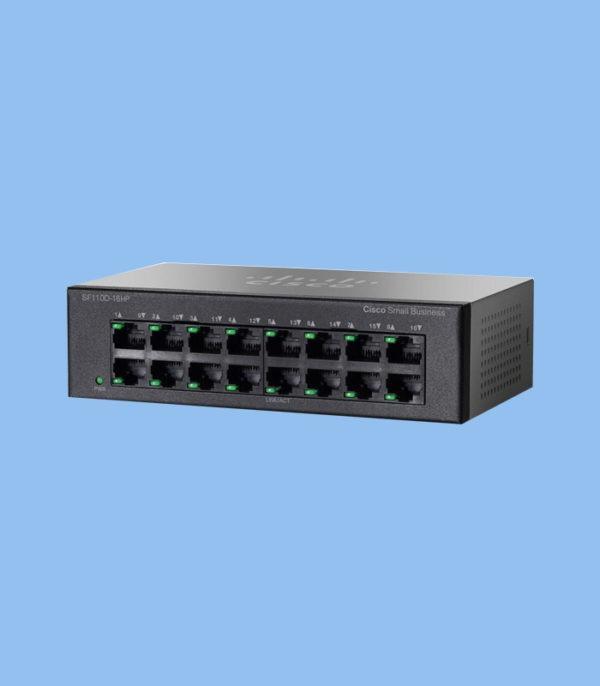 سوئیچ SF110D-16HP_ شبکه دیده بان