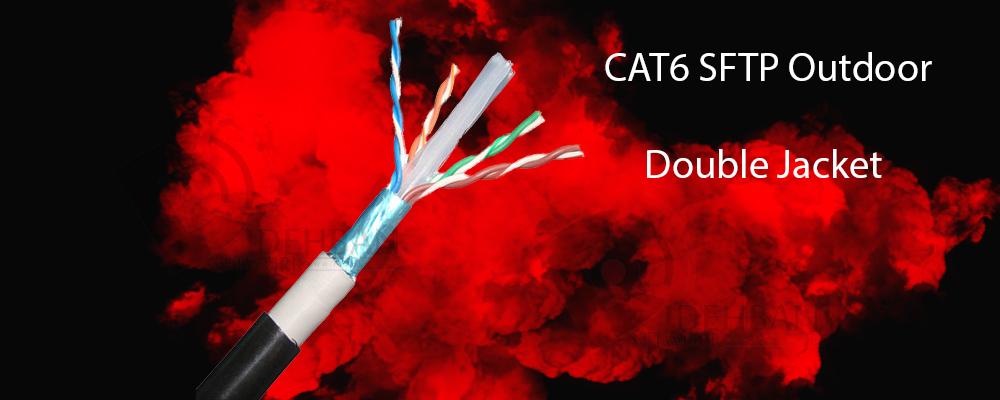 کابل شبکه cat6 sftp outdoor double_شبکه دیده بان