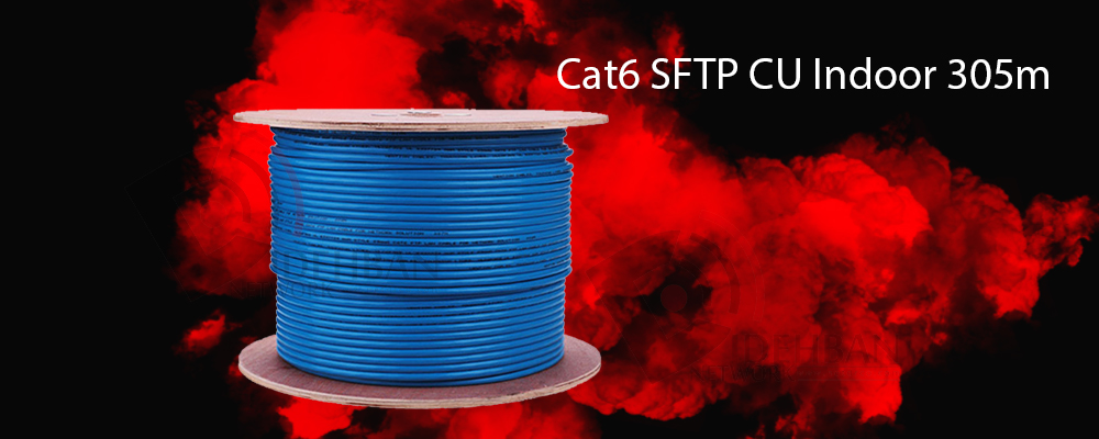 کابل شبکه سودن Cat6 SFTP CU Indoor 305m
