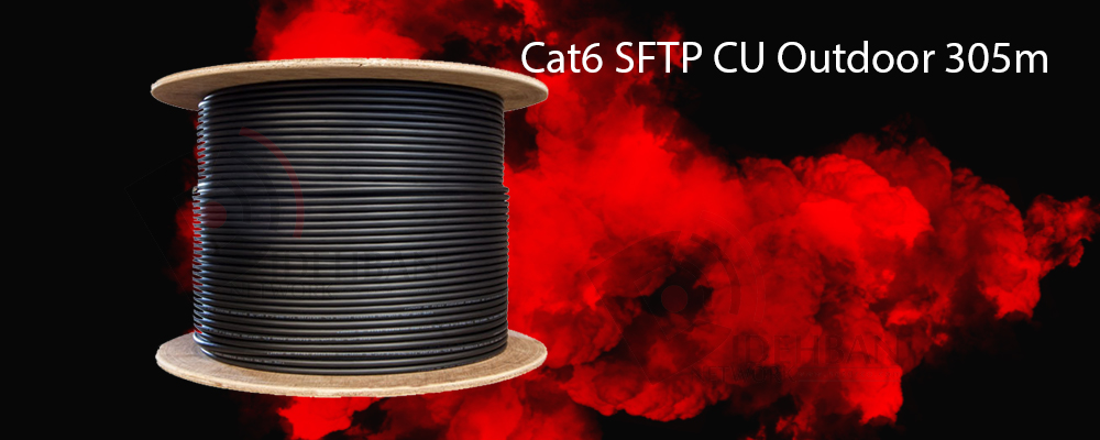 کابل شبکه سودن Cat6 SFTP CU Outdoor 305m