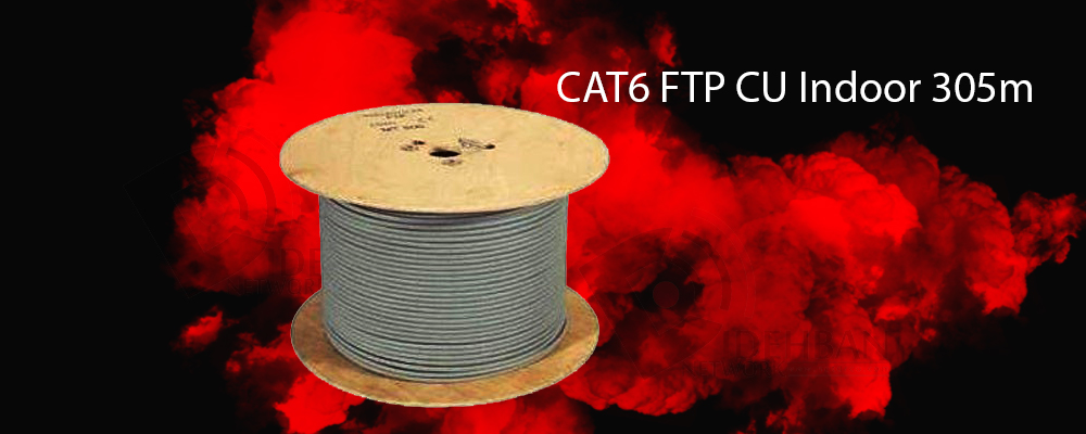کابل شبکه سودن Cat6 FTP CU Indoor 305m