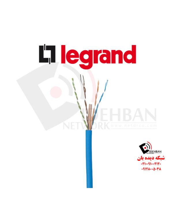 کابل شبکه لگراند Cat6 UTP روکش PVC حلقه 305 متری تست فلوک پرمننت
